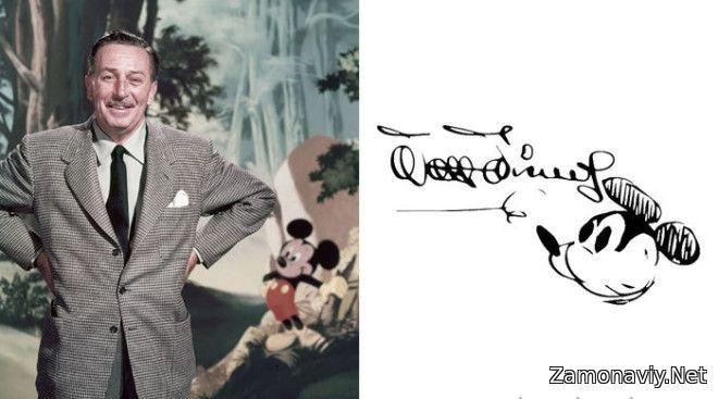 Amerikalik rassom-multiplikator, kinorejissor, aktyor, senarist, prodyusser hamda Walt Disney Productions kompaniyasining asoschisi - Walt Disney